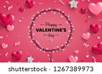 happy saint valentine's day... | Shutterstock .eps vector #1267389973