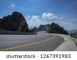 Taif Road And Mountain Under...