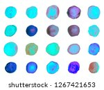 watercolor paint splashes... | Shutterstock .eps vector #1267421653