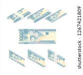 philippine peso banknote vector ... | Shutterstock .eps vector #1267421809