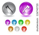 axe. vector interface element. | Shutterstock .eps vector #126743720