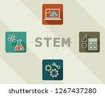 stem concept chart. science ... | Shutterstock .eps vector #1267437280