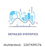 growth indicators  diagrams.... | Shutterstock .eps vector #1267439176