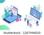online shopping  online... | Shutterstock .eps vector #1267446010