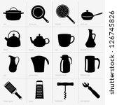 kitchenware  part 2  | Shutterstock .eps vector #126745826