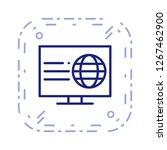 vector webpage icon  | Shutterstock .eps vector #1267462900