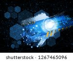 abstract technology concept... | Shutterstock .eps vector #1267465096
