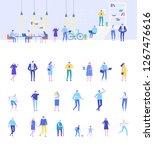 coworking people flat vector... | Shutterstock .eps vector #1267476616