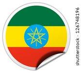 ethiopia flag sticker | Shutterstock . vector #126748196