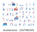 different people outdoors... | Shutterstock .eps vector #1267482433