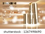 hydrating facial lipstick for... | Shutterstock .eps vector #1267498690