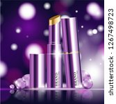 hydrating facial lipstick for... | Shutterstock .eps vector #1267498723