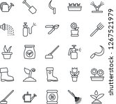 thin line icon set   job vector ... | Shutterstock .eps vector #1267521979