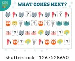 what comes next kids... | Shutterstock .eps vector #1267528690