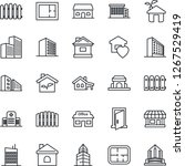thin line icon set   office...   Shutterstock .eps vector #1267529419