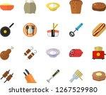 color flat icon set teflon flat ... | Shutterstock .eps vector #1267529980