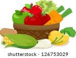Illustration Of A Wooden Basket ...