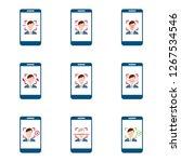 facial recognition. face ... | Shutterstock .eps vector #1267534546