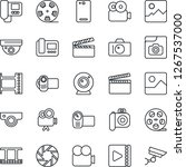 thin line icon set   camera... | Shutterstock .eps vector #1267537000