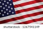 Usa Flag Is Waving. United...