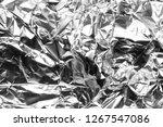 texture of crumpled foil...   Shutterstock . vector #1267547086