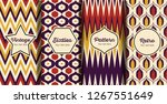 seamless striped retro pattern... | Shutterstock .eps vector #1267551649