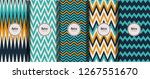 seamless striped retro pattern... | Shutterstock .eps vector #1267551670