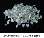 tumbled moonstone on a black... | Shutterstock . vector #1267551856