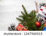 gifts in festive color... | Shutterstock . vector #1267560313