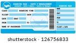 boarding pass. blue flight... | Shutterstock .eps vector #126756833