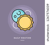 daily routine  day and night ... | Shutterstock .eps vector #1267576039