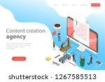 flat isometric vector landing... | Shutterstock .eps vector #1267585513