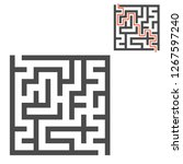 abstract square maze. game for... | Shutterstock .eps vector #1267597240