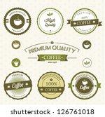 coffee labels | Shutterstock .eps vector #126761018