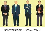 older businessmen | Shutterstock .eps vector #126762470