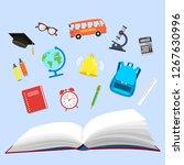 school. open book and school...   Shutterstock .eps vector #1267630996