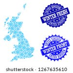 snowflake map of united kingdom ...   Shutterstock .eps vector #1267635610