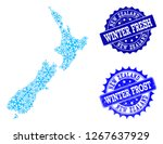snow map of new zealand and... | Shutterstock .eps vector #1267637929