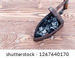 ancient iron iron for ironing... | Shutterstock . vector #1267640170