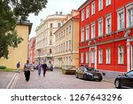 riga  latvia   august 28  2018  ... | Shutterstock . vector #1267643296