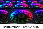 computer cooler with rgb led... | Shutterstock . vector #1267646389