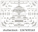 vintage vector design elements. ... | Shutterstock .eps vector #1267650163