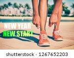 new year new start fitness new... | Shutterstock . vector #1267652203