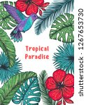 tropical paradise. tropical... | Shutterstock .eps vector #1267653730