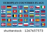 europe countries flags... | Shutterstock .eps vector #1267657573