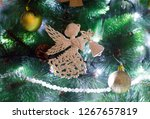 angel on the christmas tree.... | Shutterstock . vector #1267657819