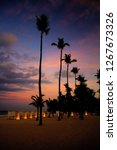 Stock photo punta cana dominican republic sunset caribe tourism 1267673326