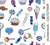 seamless pattern with sweets  ... | Shutterstock .eps vector #1267675009