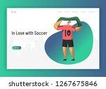 football fan character landing... | Shutterstock .eps vector #1267675846