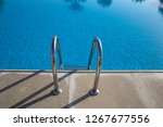 grab bars ladder in the blue... | Shutterstock . vector #1267677556